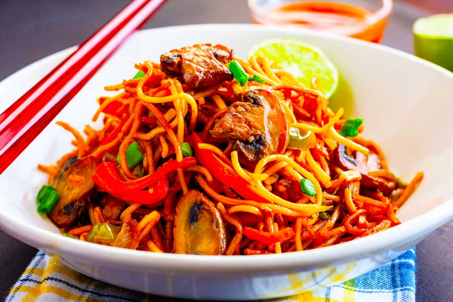Amazing Pork Chow Mein Recipe With Shiitake Mushrooms