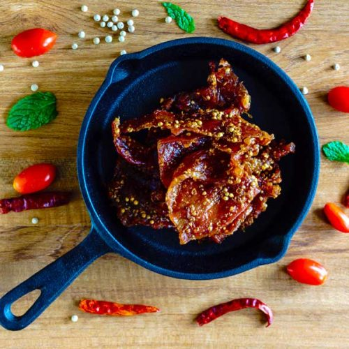 Sweet chilli pork jerky