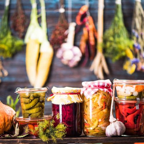 Pickled marinated fermented vegetables