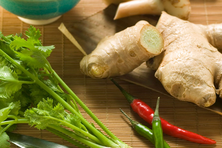 Coriander-and-ginger-as-a-substitute-for-lemon-grass